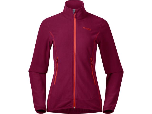 Bergans Lovund Fleece Jacket Dame Beet Red/Bright Magma